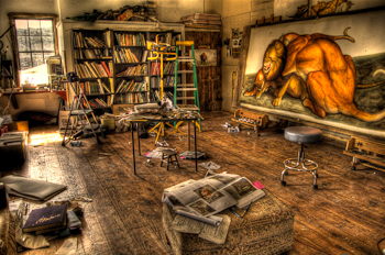 Walton Ford Painting Studio